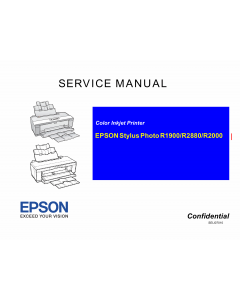 EPSON StylusPhoto R2000 Service Manual