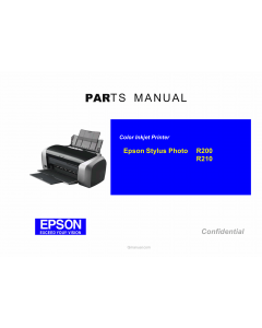 EPSON StylusPhoto R200 R210 Parts Manual
