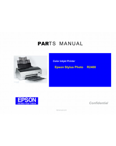 EPSON StylusPhoto R2400 Parts Manual