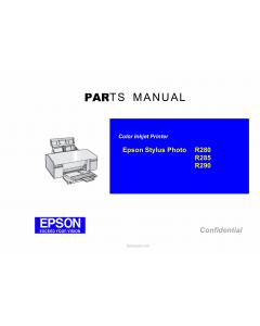 EPSON StylusPhoto R280 R285 R290 Parts Manual