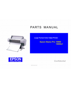EPSON StylusPro 10000 10000cf Parts Manual