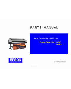 EPSON StylusPro 11880 11880C Parts Manual