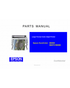 EPSON SureColor B6000 B6070 B6080 Parts Manual