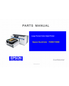 EPSON SureColor F2000 F2080 Parts Manual