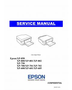 Epson XP XP600 601 605 700 701 702 750 800 801 802 850 Service Manual