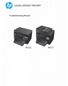 HP ColorLaserJet Pro-MFP M176 M176n M177 M177fw Troubleshooting Manual PDF download