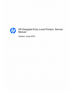 HP DesignJet 111 Service Manual