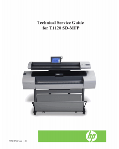 HP DesignJet T1120SD-MFP Service Manual