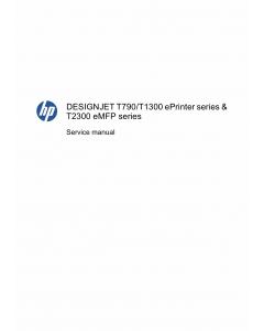 HP DesignJet T790 T1300 T2300 eMFP Service Manual