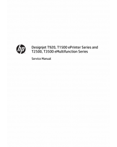 HP DesignJet T920 T1500 T2500 T3500 Parts and Service Manual PDF download