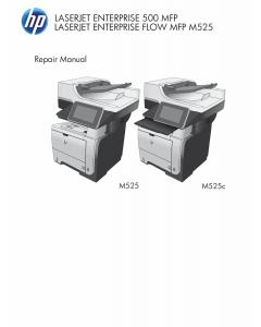 HP LaserJet 500MFP M525 M525c Service Manual