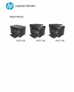 HP LaserJet Pro-MFP M125 M126 M127 M128 Parts and Repair Guide PDF download