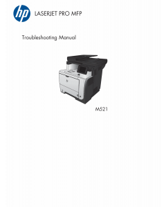 HP LaserJet Pro-MFP M521 dn dw Troubleshooting Manual PDF download