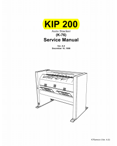 KIP 200 K-76 Parts and Service Manual
