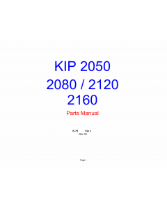 KIP 2050 2080 2120 2160 Image-Scanner K-75 Parts Manual