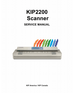 KIP 2200 Parts and Service Manual
