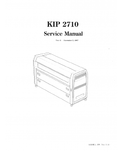 KIP 2710 K-48 Parts and Service Manual