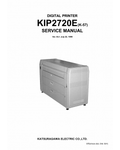 KIP 2720E K-57 Parts and Service Manual