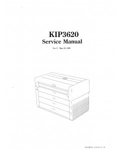 KIP 3620 K-42 Parts and Service Manual
