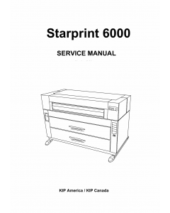 KIP 6000 Parts and Service Manual