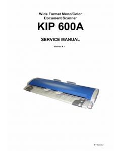 KIP 600A Service Manual