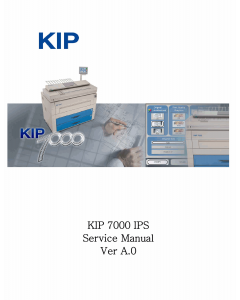 KIP 7000 IPS Parts and Service Manual