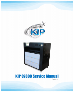 KIP C7800 Service Manual