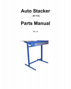 KIP K-113 Stacker Parts Manual