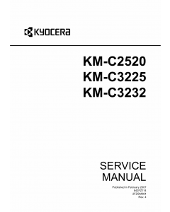 KYOCERA ColorCopier KM-C2520 C3225 C3232 Parts and Service Manual