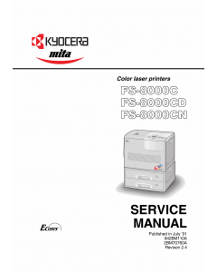 KYOCERA ColorLaserPrinter FS-8000C CD CN Parts and Service Manual