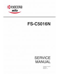 KYOCERA ColorLaserPrinter FS-C5016N Parts and Service Manual