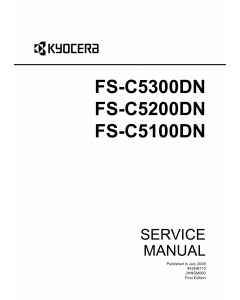 KYOCERA ColorLaserPrinter FS-C5300DN C5200DN C5100DN Service Manual