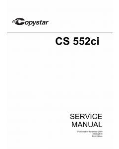KYOCERA ColorMFP Copystar-CS-552ci Parts and Service Manual