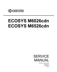 KYOCERA ColorMFP ECOSYS-M6026cdn M6526cdn Service Manual