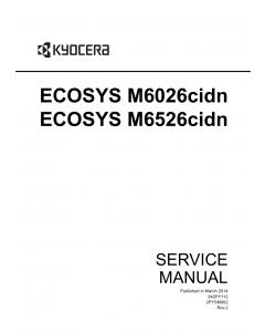 KYOCERA ColorMFP ECOSYS-M6026cidn M6526cidn Service Manual