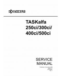 KYOCERA ColorMFP TASKalfa-250ci 300ci 400ci 500ci Service Manual