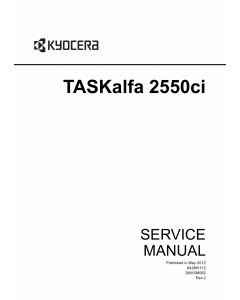 KYOCERA ColorMFP TASKalfa-2550ci Service Manual