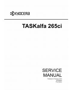 KYOCERA ColorMFP TASKalfa-265ci Service Manual