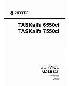 KYOCERA ColorMFP TASKalfa-6550ci 7550ci Service Manual