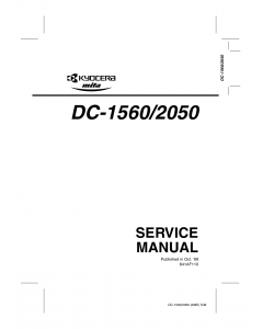KYOCERA Copier DC-1560 2050 Parts and Service Manual