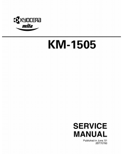KYOCERA Copier KM-1505 Parts and Service Manual