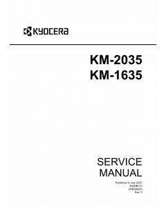 KYOCERA Copier KM-1635 2035 Service Manual