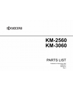 KYOCERA Copier KM-2560 3060 Parts Manual