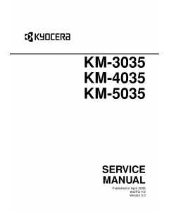 KYOCERA Copier KM-3035 4035 5035 Service Manual