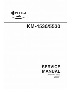 KYOCERA Copier KM-4530 KM-5530 Parts and Service Manual