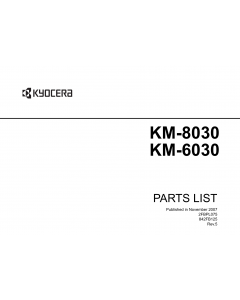KYOCERA Copier KM-6030 8030 Parts Manual