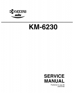 KYOCERA Copier KM-6230 Parts and Service Manual