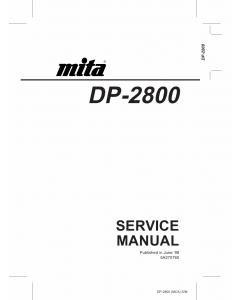 KYOCERA LaserPrinter DP-2800 Parts and Service Manual