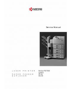 KYOCERA LaserPrinter ECOSYS-FS-7000 Parts and Service Manual