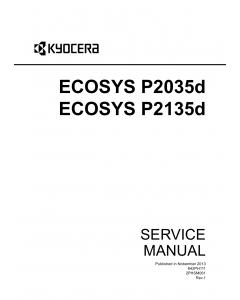 KYOCERA LaserPrinter ECOSYS-P2035d P2135d Service Manual